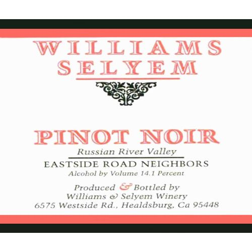 Williams Selyem Eastside Road Neighbors Pinot Noir 2009 Front Label