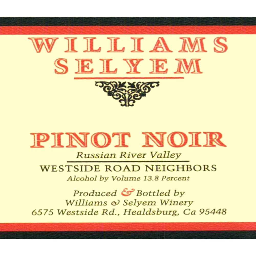 Williams Selyem Westside Road Neighbors Pinot Noir 2009 Front Label