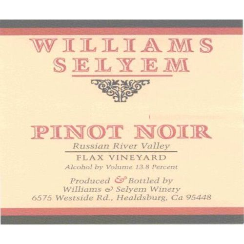Williams Selyem Flax Vineyard Pinot Noir 2009 Front Label
