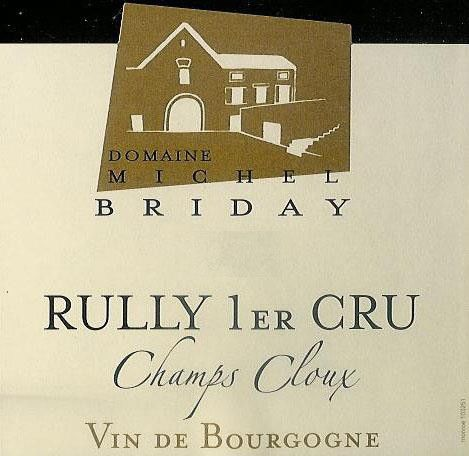 Michel Briday Rully Champs Cloux Premier Cru 2007 Front Label