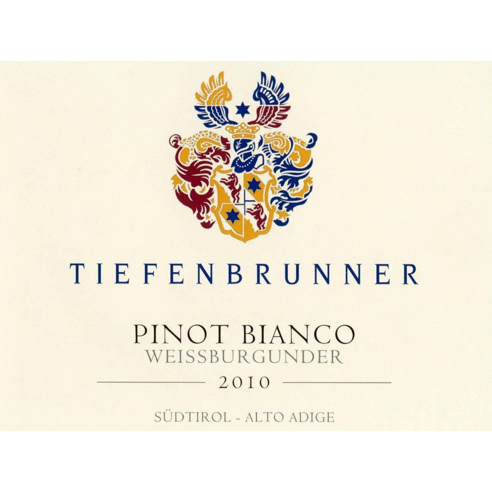 Tiefenbrunner Pinot Bianco 2010 Front Label