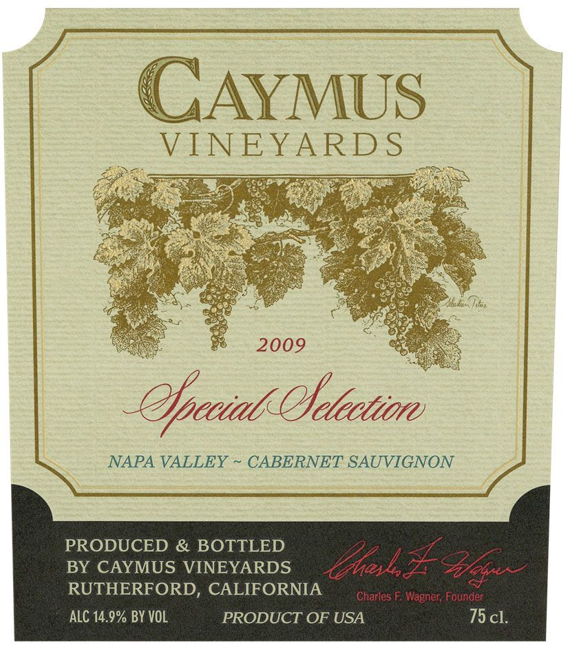 Caymus Special Selection Cabernet Sauvignon 2009 Front Label