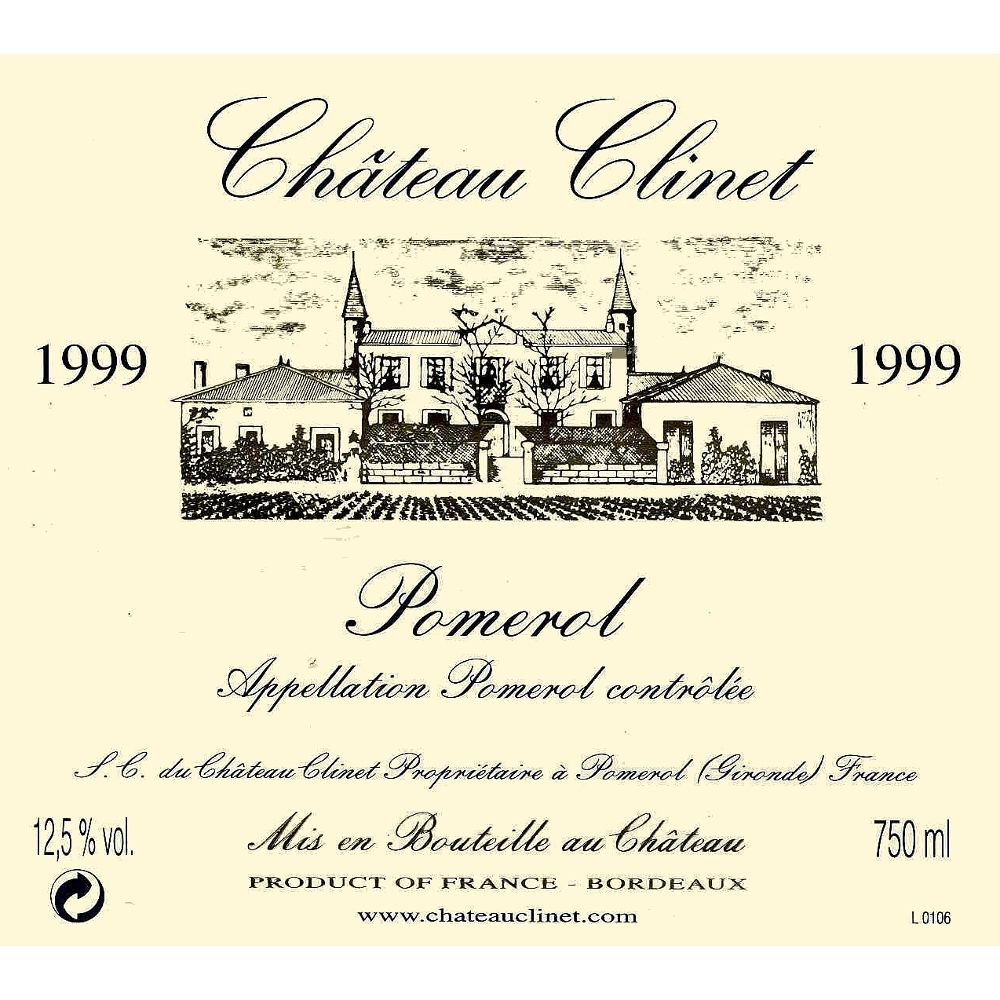 Chateau Clinet  1999 Front Label