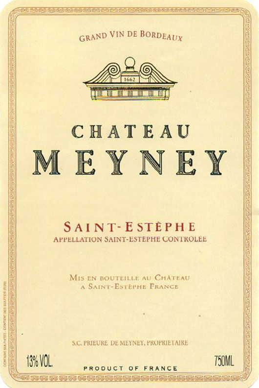 Chateau Meyney (375ML half-bottle) 2004 Front Label