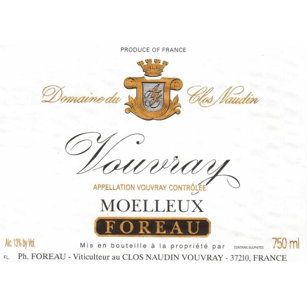 Philippe Foreau Vouvray Moelleux Clos Naudin 2009 Front Label