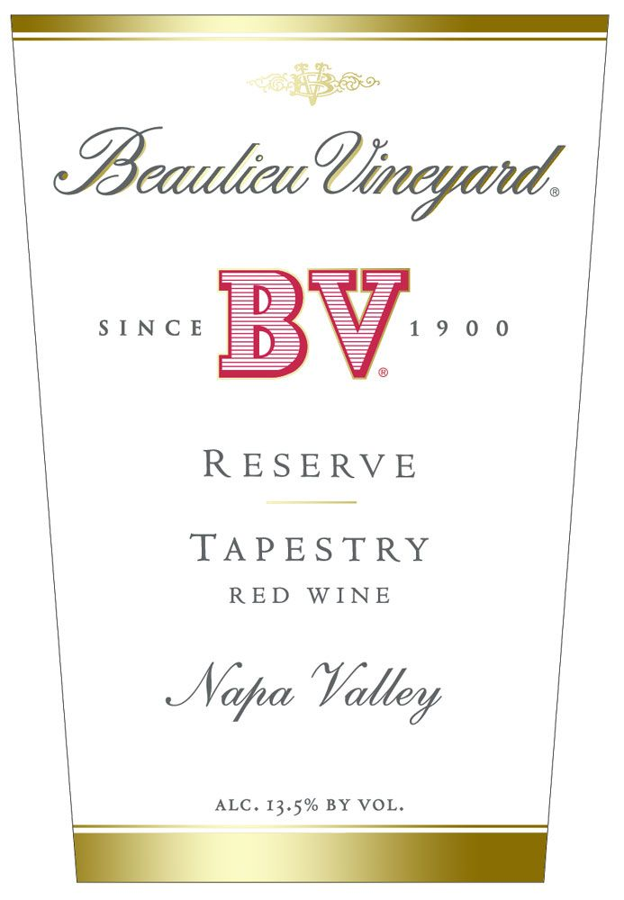 Beaulieu Vineyard Reserve Tapestry 2008 Front Label