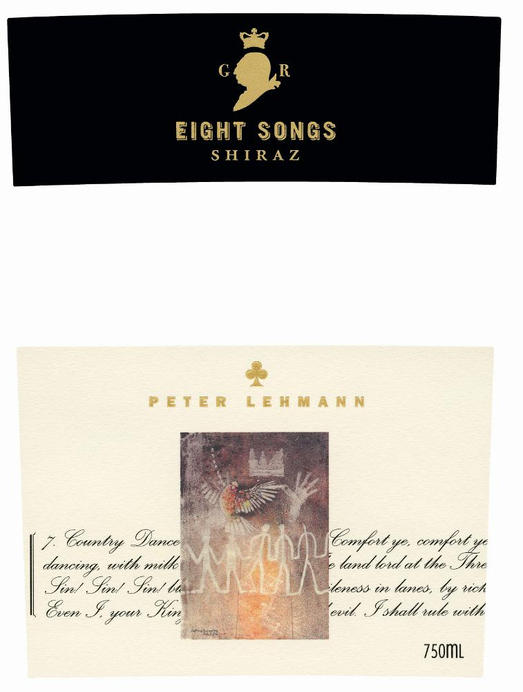 Peter Lehmann Eight Songs Shiraz 2006 Front Label
