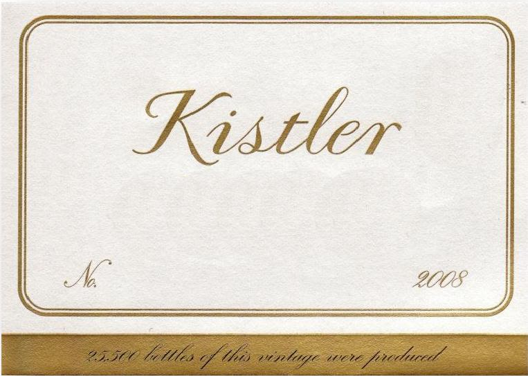 Kistler Vineyards Hyde Vineyard Chardonnay 2008 Front Label