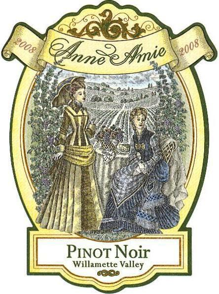 Anne Amie Willamette Valley Pinot Noir 2008 Front Label