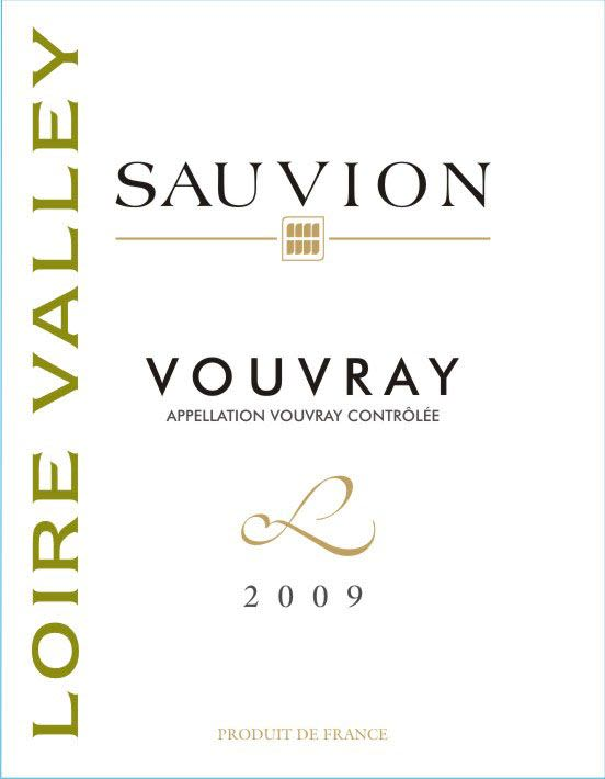 Sauvion Vouvray 2009 Front Label
