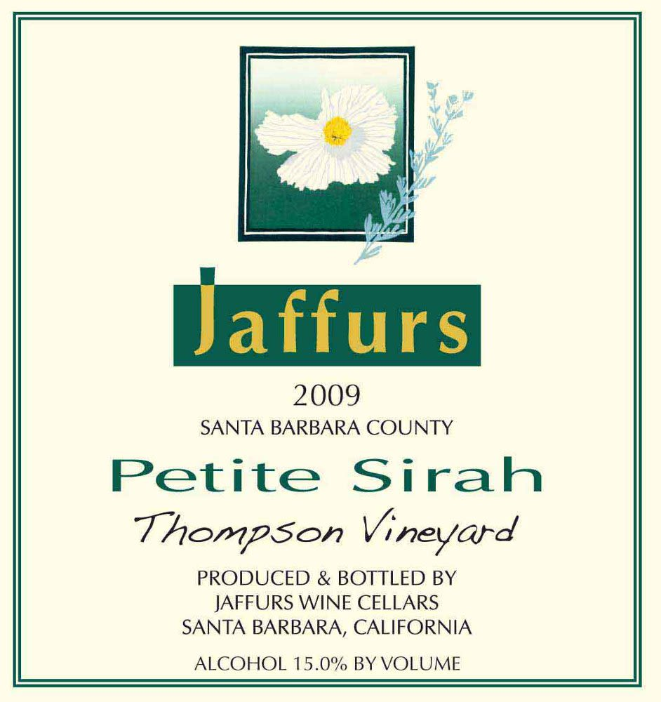 Jaffurs Thompson Vineyard Petite Sirah 2009 Front Label