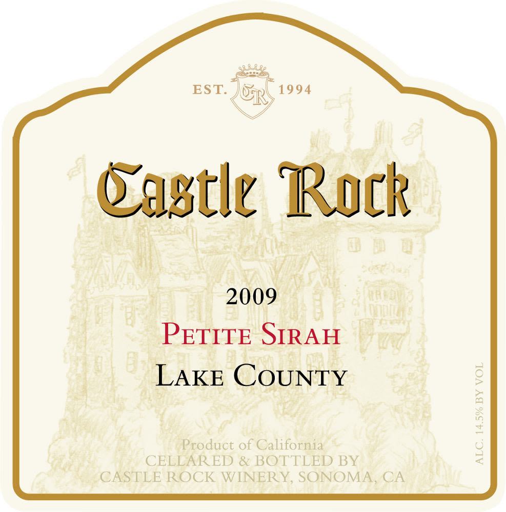 Castle Rock Petite Sirah 2009 Front Label