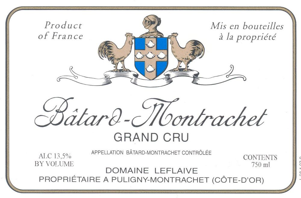 Domaine Leflaive Batard-Montrachet Grand Cru 2008 Front Label