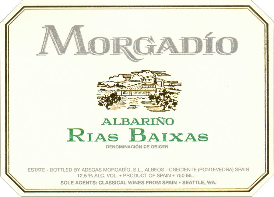 Morgadio Albarino 2010 Front Label
