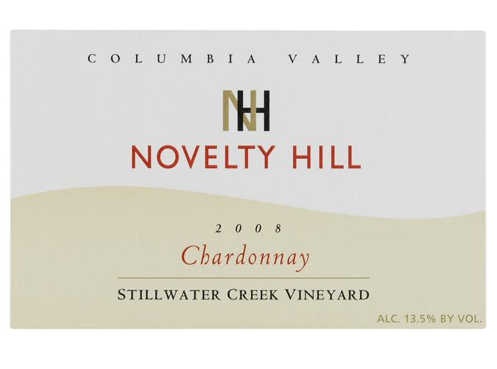 Novelty Hill Stillwater Creek Chardonnay 2008 Front Label