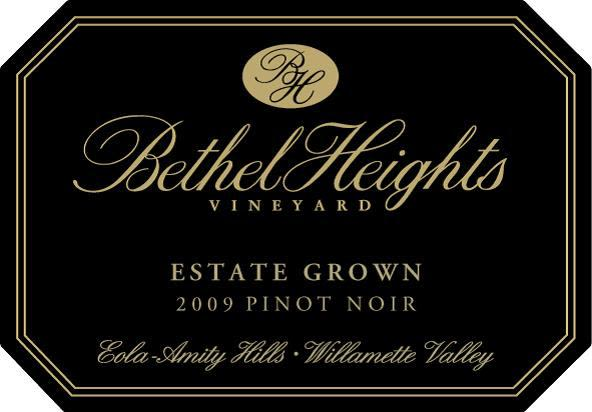 Bethel Heights Estate Pinot Noir 2009 Front Label