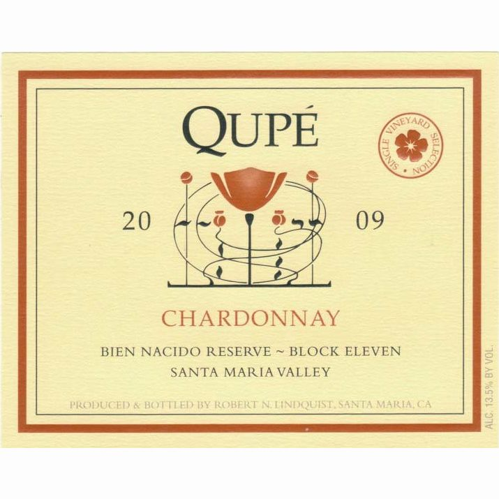 Qupe Reserve Block 11 Chardonnay 2009 Front Label