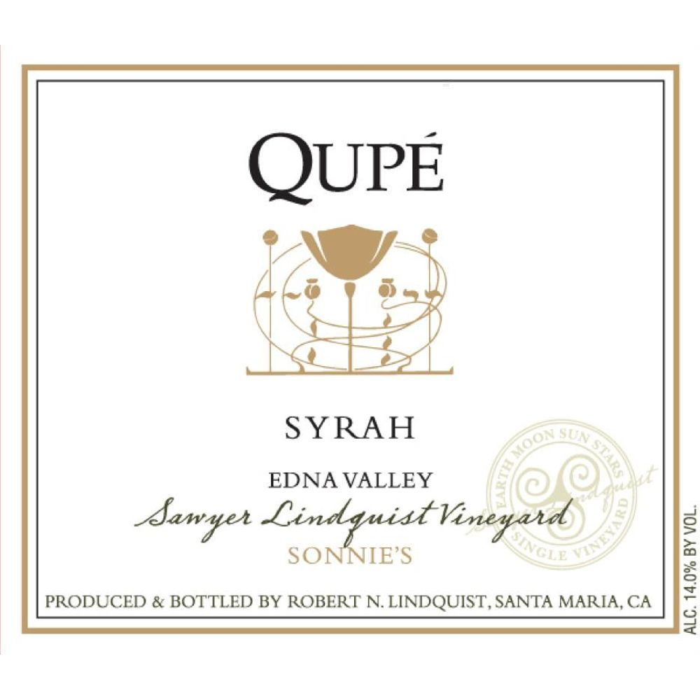 Qupe Sawyer Lindquist Vineyard Sonnie's Syrah 2009 Front Label