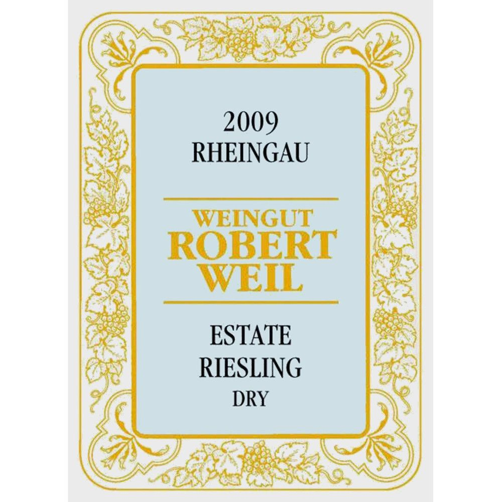 Robert Weil Estate Riesling Dry 2009 Front Label