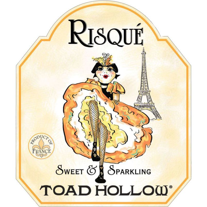 Toad Hollow Risque French Sparkling Wine Front Label