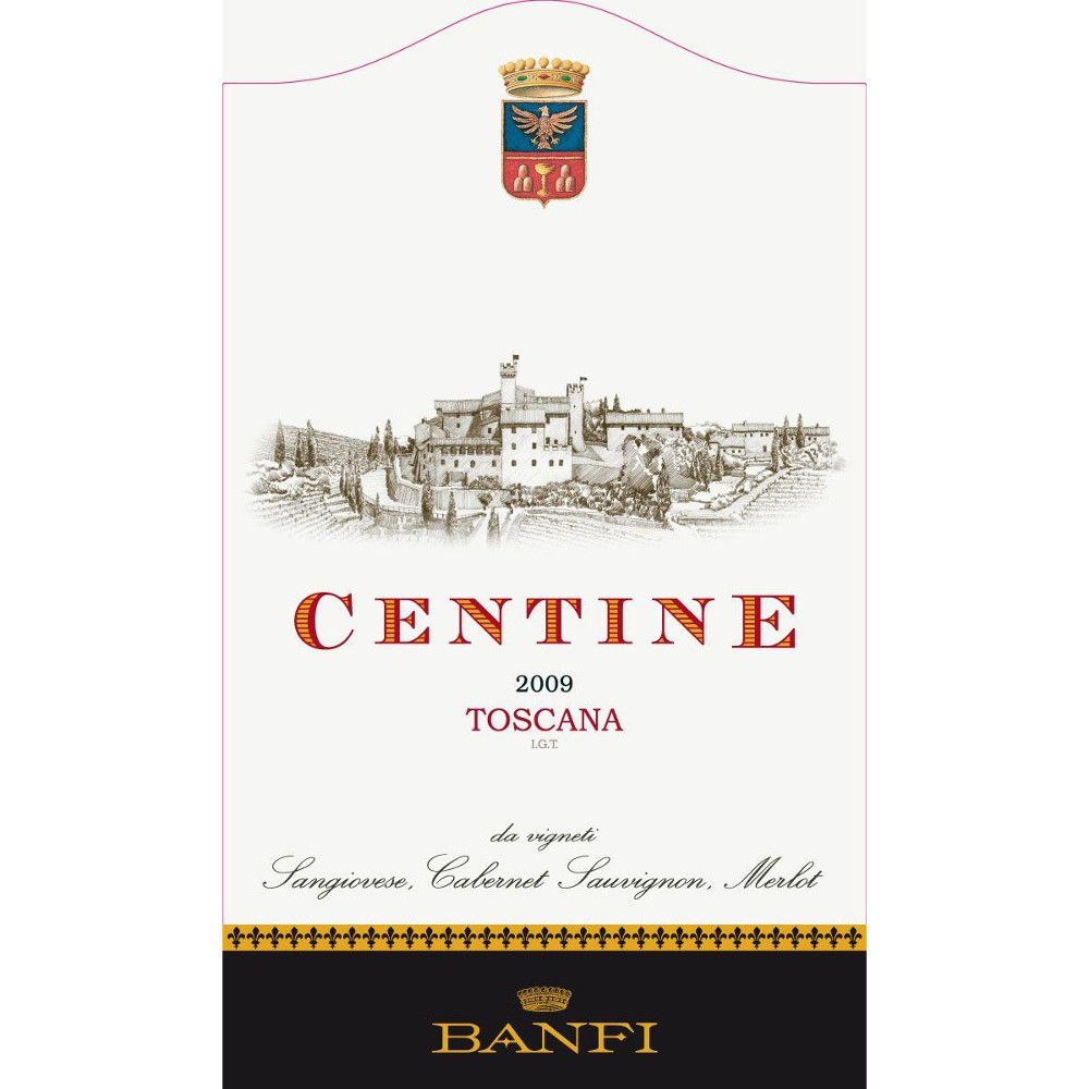 Banfi Centine Toscana 2009 Front Label