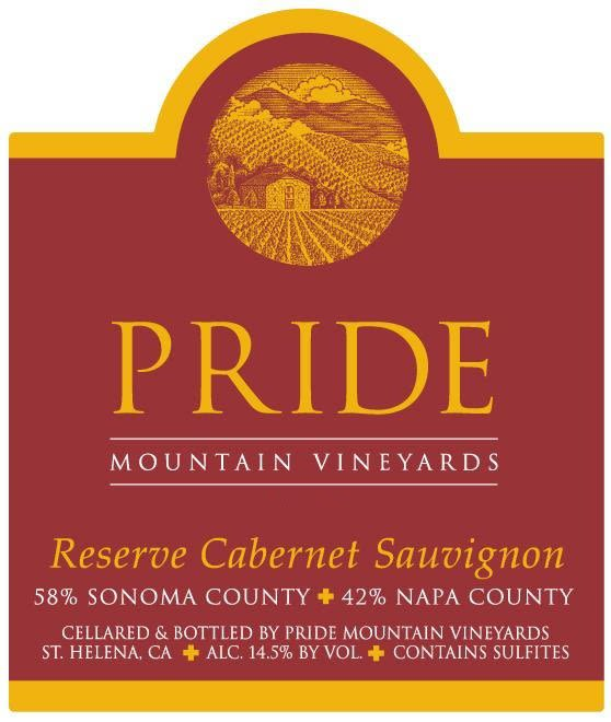 Pride Mountain Vineyards Reserve Cabernet Sauvignon 2004 Front Label