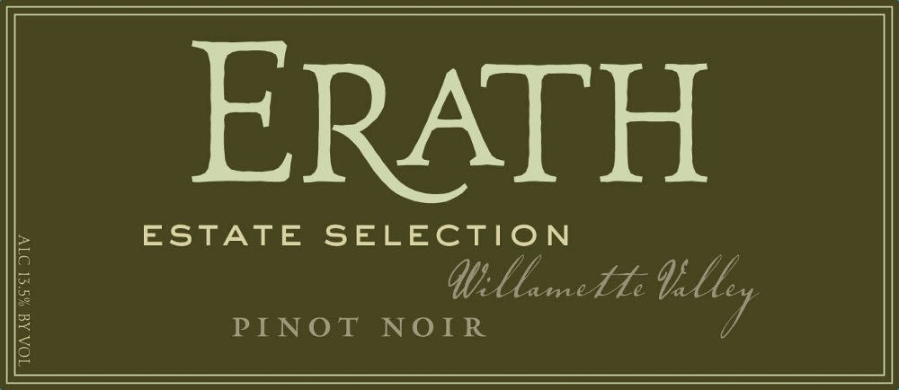 Erath Estate Selection Pinot Noir 2009 Front Label