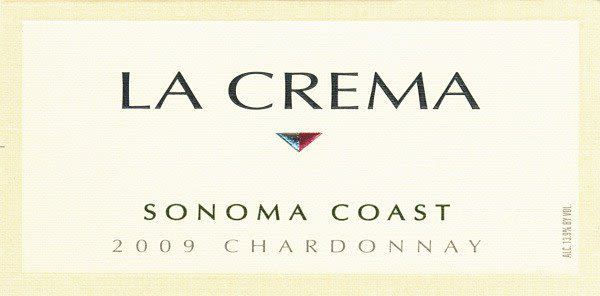 La Crema Sonoma Coast Chardonnay (375ML half-bottle) 2009 Front Label