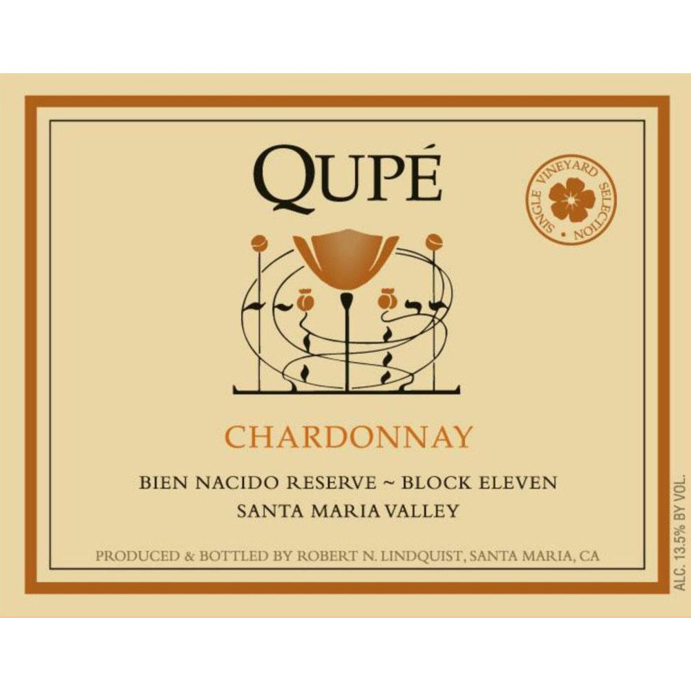Qupe Reserve Block 11 Chardonnay (375ML half-bottle) 2009 Front Label