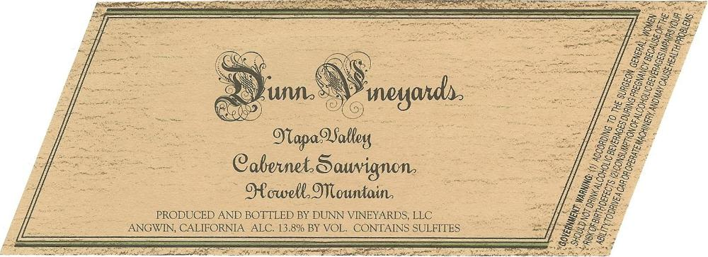 Dunn Howell Mountain Cabernet Sauvignon (1.5 Liter Magnum) 1993 Front Label