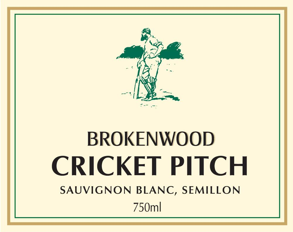 Brokenwood Cricket Pitch White 2007 Front Label