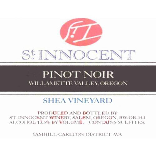 St. Innocent Shea Vineyard Pinot Noir 2009 Front Label