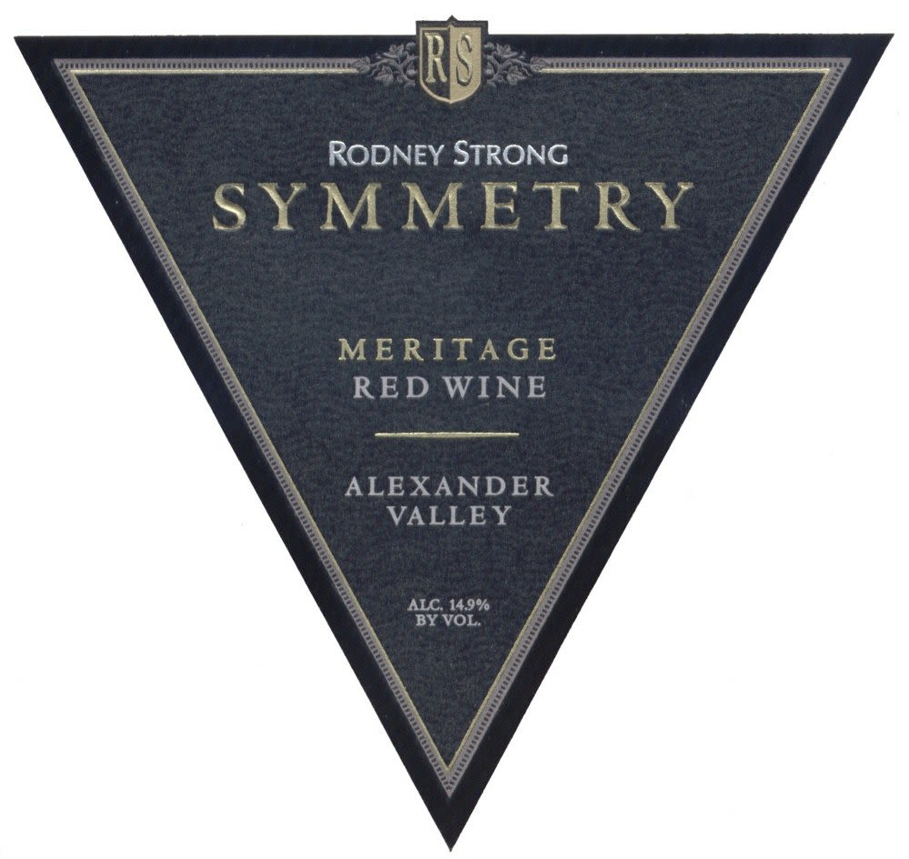 Rodney Strong Symmetry Meritage 2008 Front Label