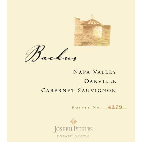 Joseph Phelps Backus Vineyard Cabernet Sauvignon 2007 Front Label