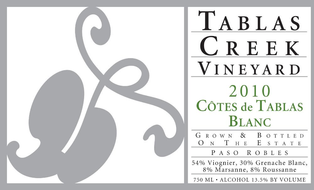 Tablas Creek Cotes de Tablas Blanc 2010 Front Label
