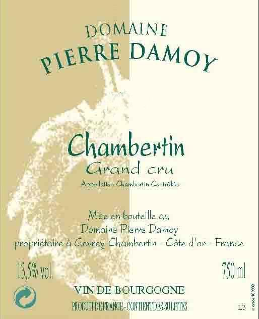 Pierre Damoy Chambertin Grand Cru 2009 Front Label