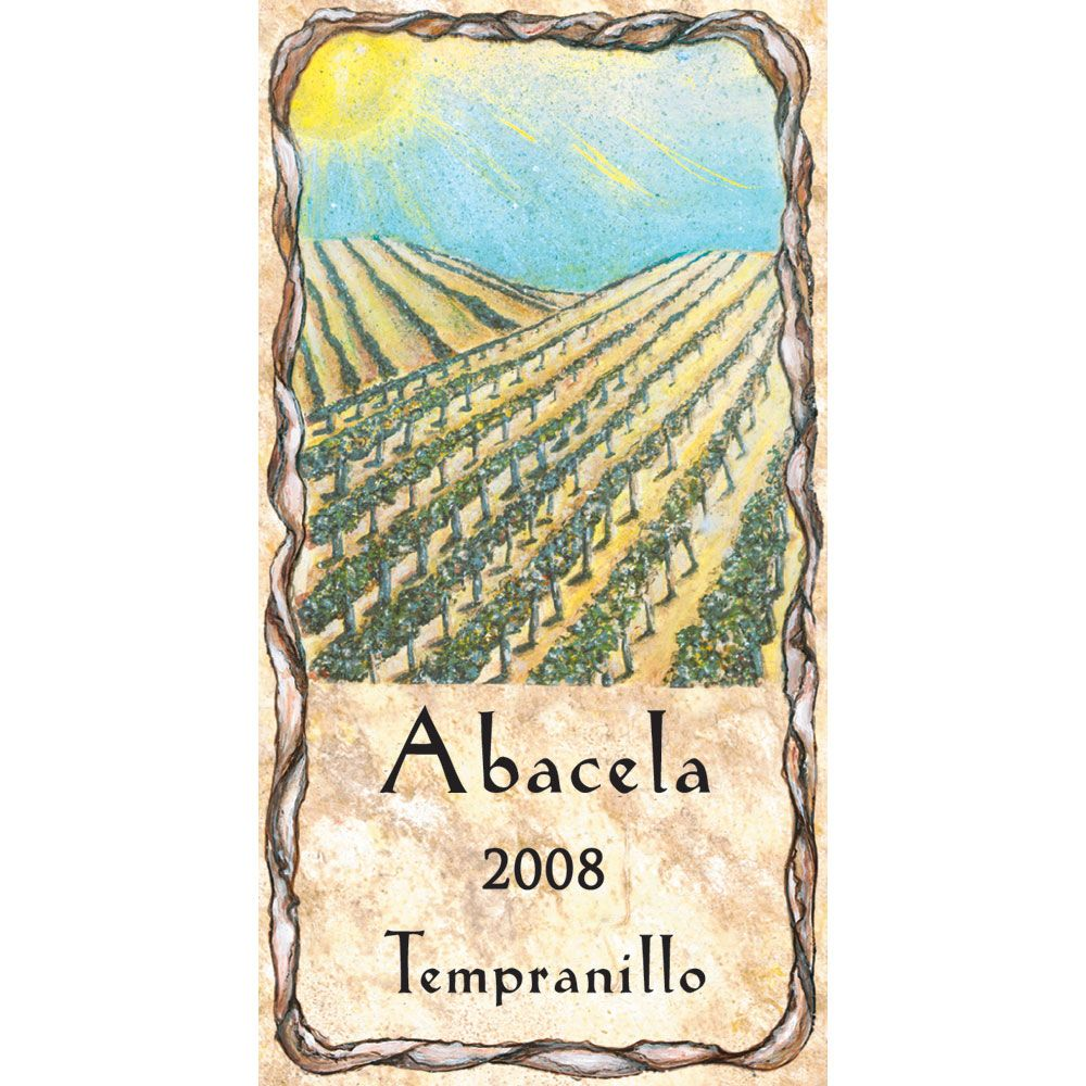 Abacela Estate Tempranillo 2008 Front Label