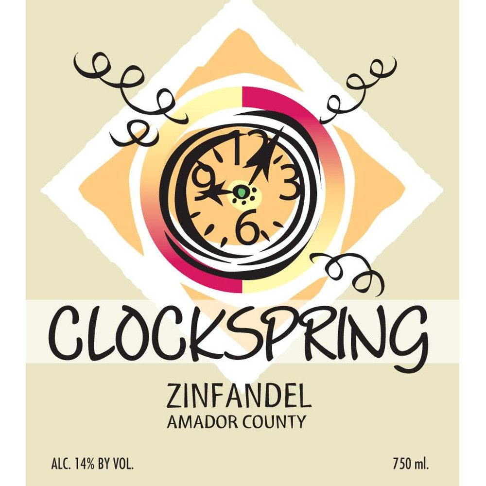 Mountain View Winery Clockspring Zinfandel 2009 Front Label