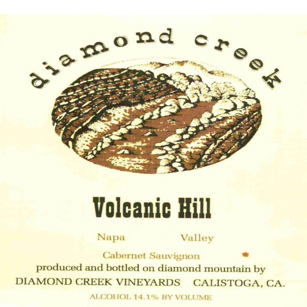 Diamond Creek Volcanic Hill Cabernet Sauvignon 2008 Front Label