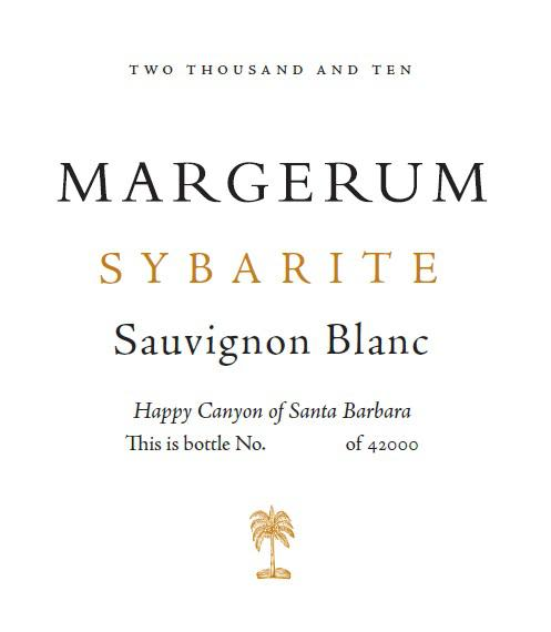 Margerum Sybarite Sauvignon Blanc 2010 Front Label