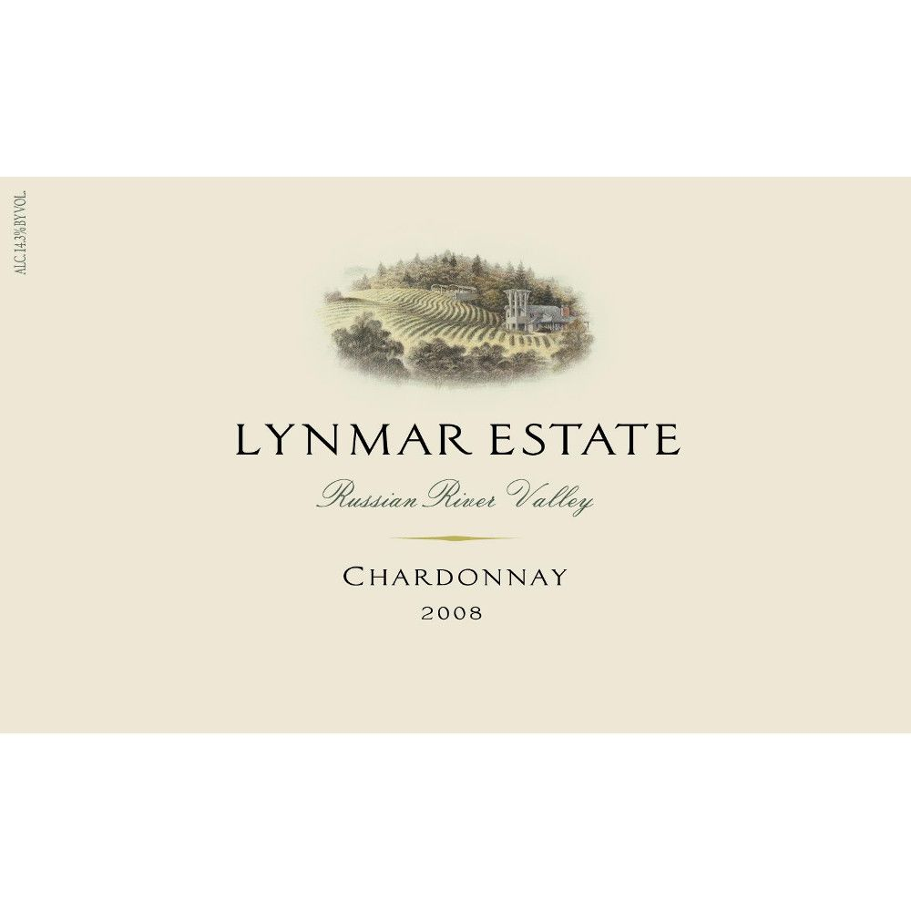 Lynmar Winery Russian River Chardonnay 2008 Front Label