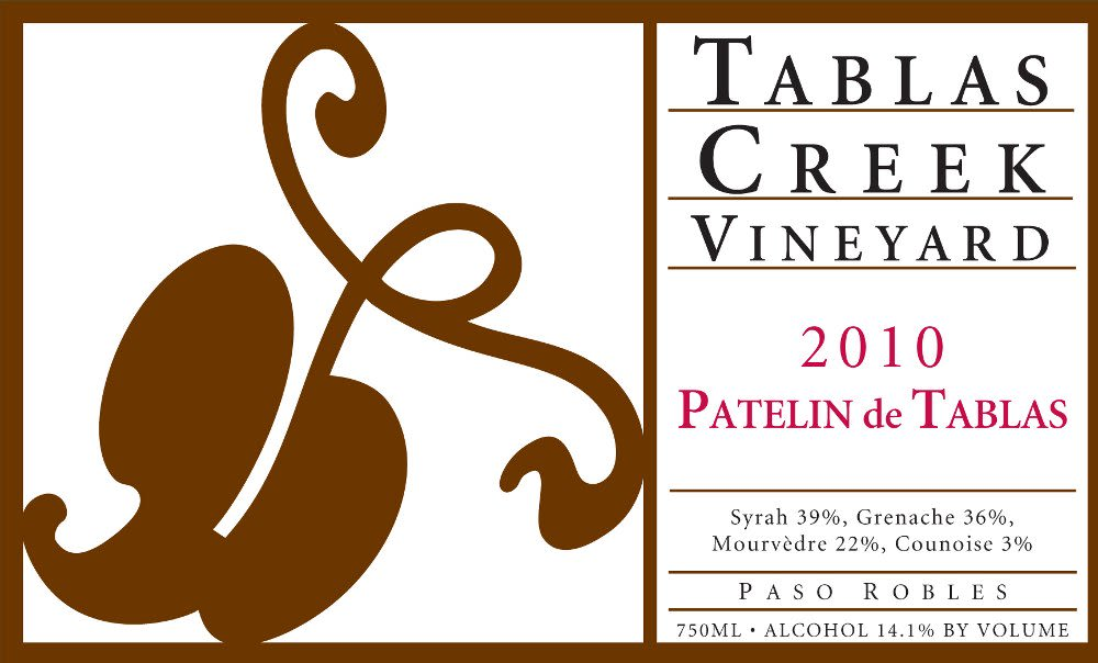 Tablas Creek Patelin de Tablas Rouge 2010 Front Label