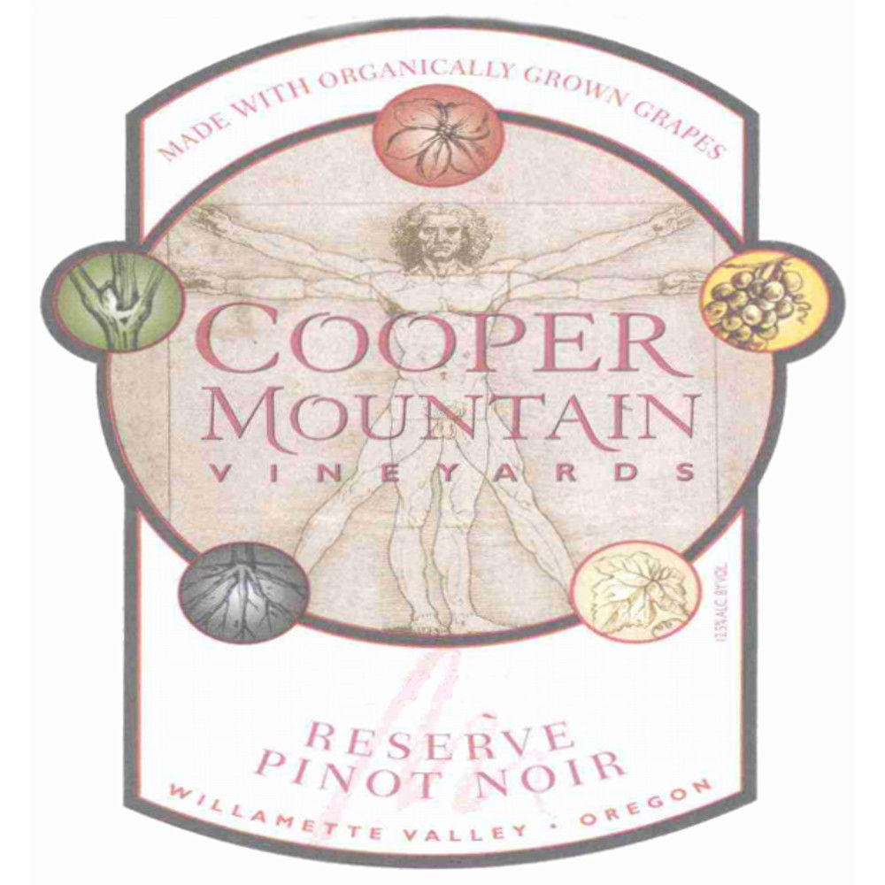 Cooper Mountain Reserve Pinot Noir 2009 Front Label