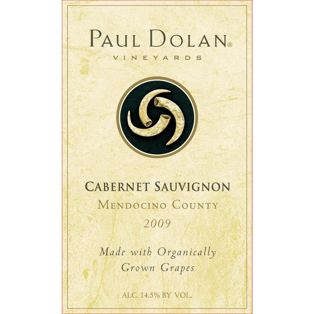 Paul Dolan Vineyards Cabernet Sauvignon 2009 Front Label
