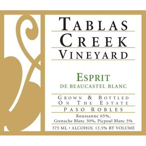 Tablas Creek Esprit de Beaucastel Blanc (375ML half-bottle) 2009 Front Label