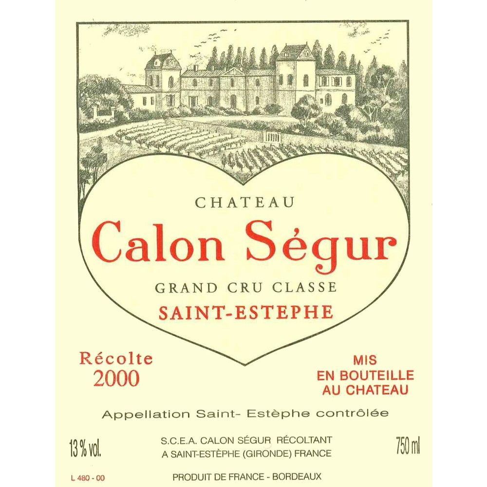 Chateau Calon-Segur  2000 Front Label