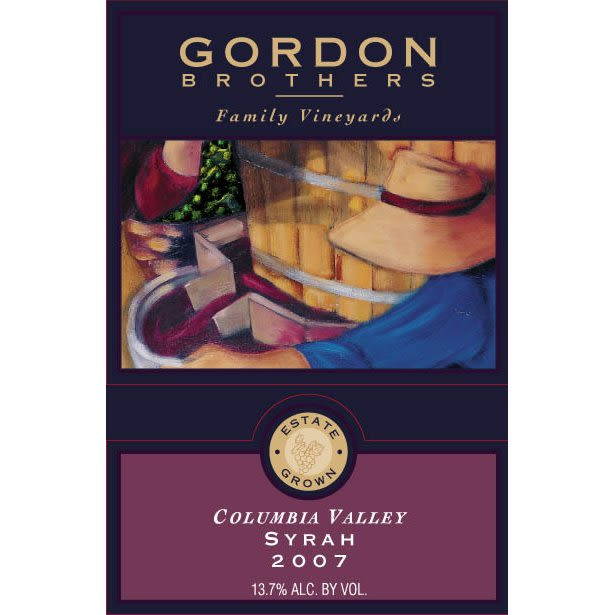 Gordon Brothers Syrah 2007 Front Label