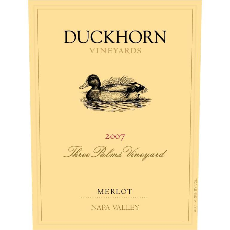 Duckhorn Three Palms Merlot 2007 Front Label