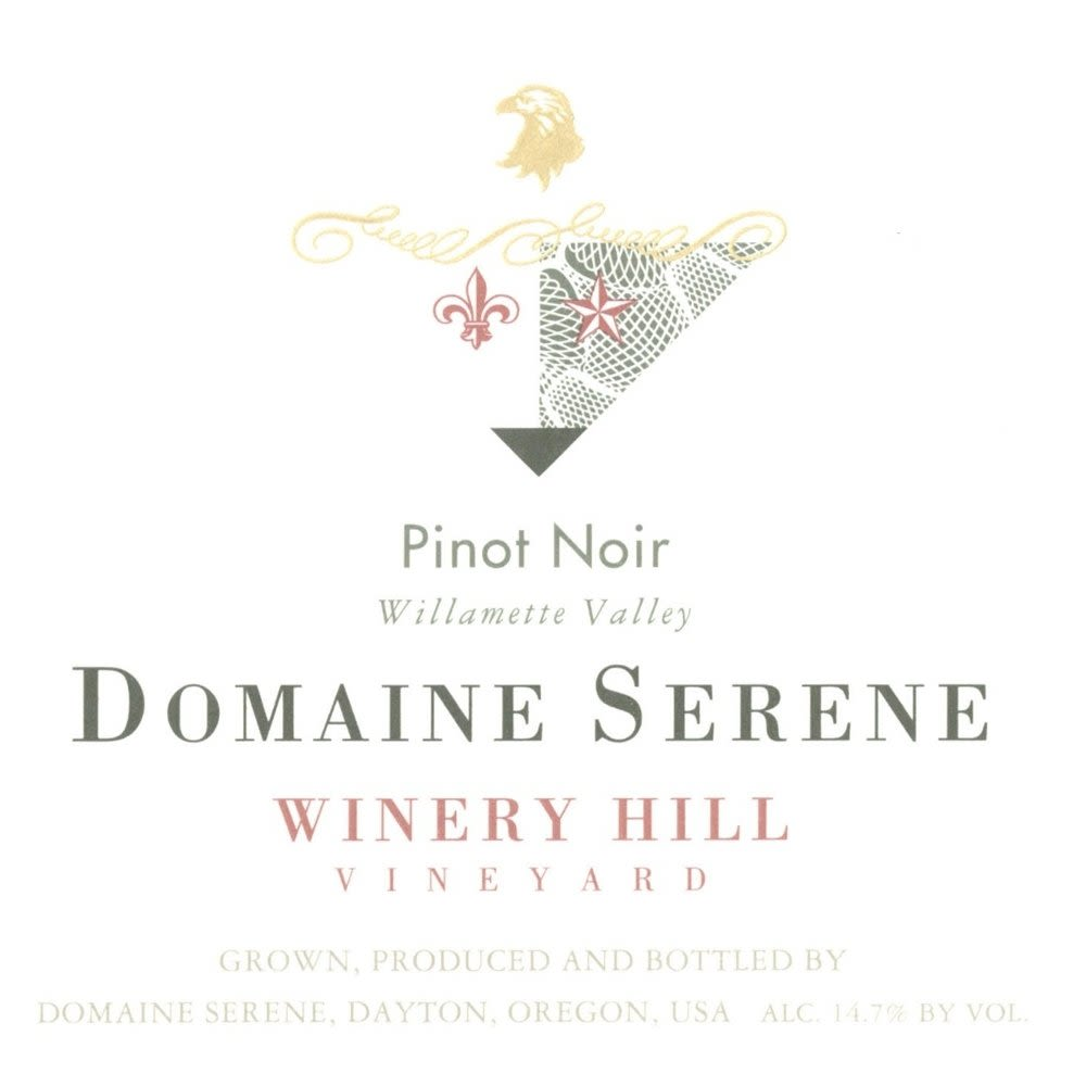 Domaine Serene Winery Hill Vineyard Pinot Noir 2008 Front Label
