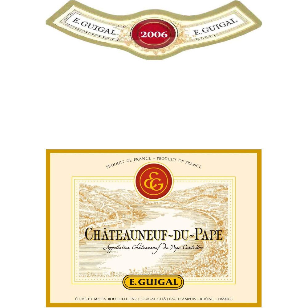 Guigal Chateauneuf-du-Pape (375ML half-bottle) 2006 Front Label